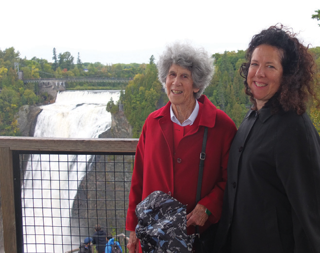 Daphne and Mom at Montmorency Falls.