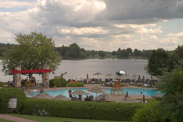 Chateau Montebello's outdoor swimming pool.