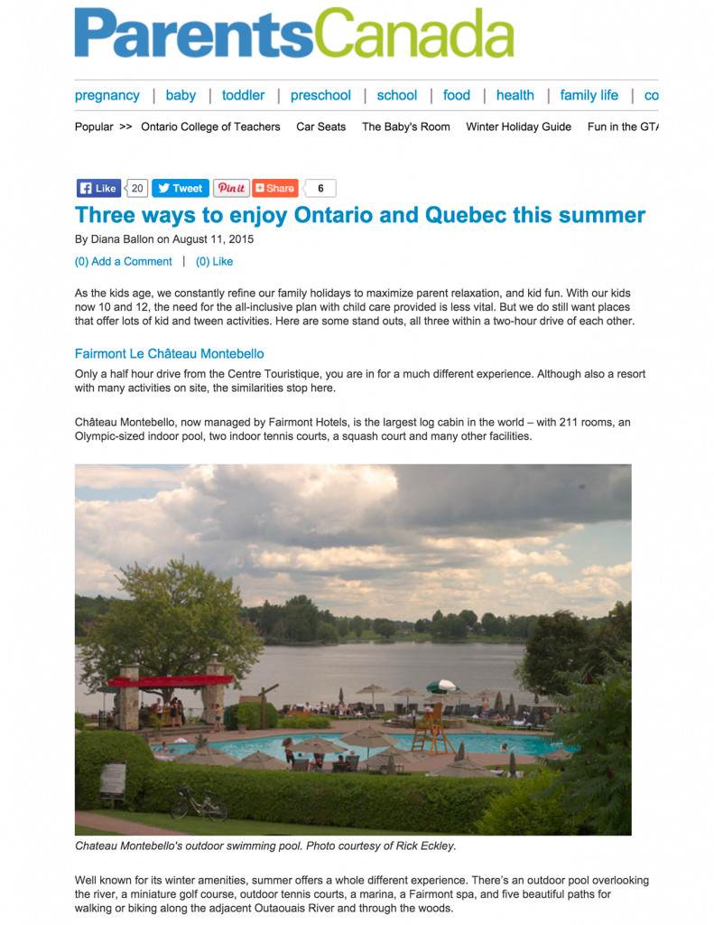 Three ways to enjoy Ontario and Quebec this summer