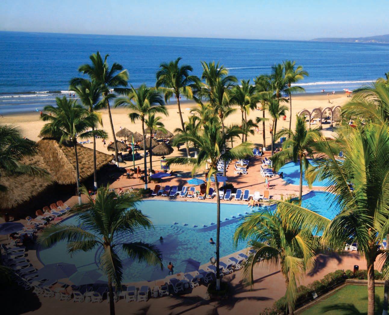 The 274-room Occidental Grand Nuevo Vallarta is located on Bahía de Banderas, a beautiful stretch of sand on the Pacific coast.