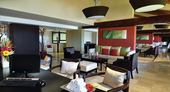 Royal Club features include a dedicated VIP check-in and check-out area.  Occidental Grand Nuevo Vallarta by Barceló Hotels & Resorts.
